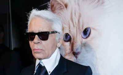 Karl Lagerfeld and his beloved cat, Choupette