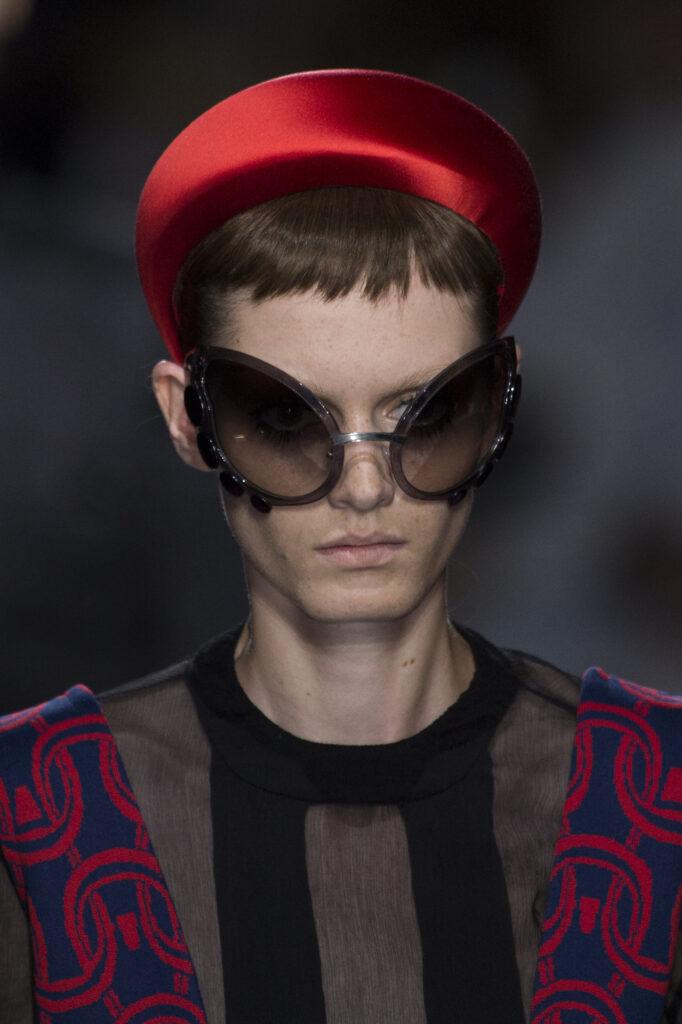 Ruby red accessories: Prada S/S19