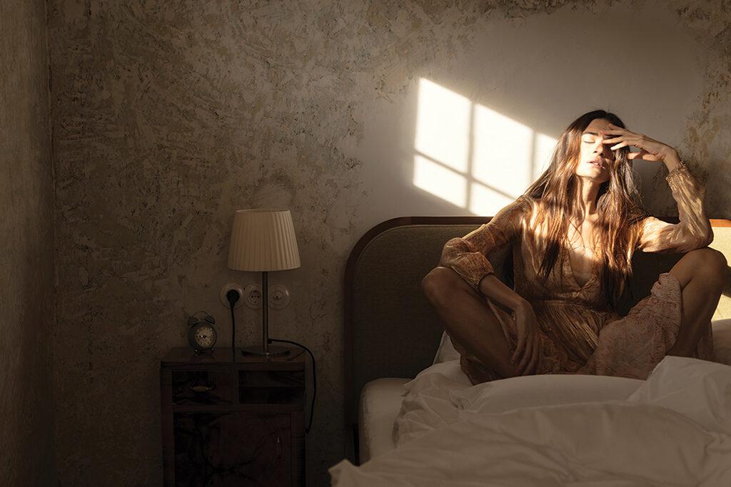 Model Natalia Bonifacci wears dress by Forte_Forte