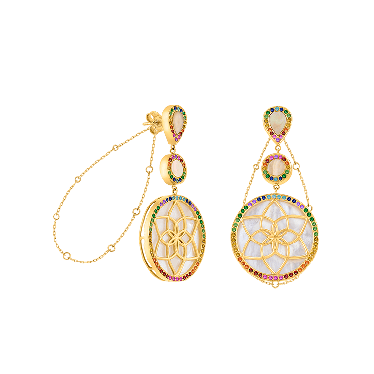 Al Otaiba Dreamcatcher earrings, MKS JEWELLERY exclusively at ROBINSONS