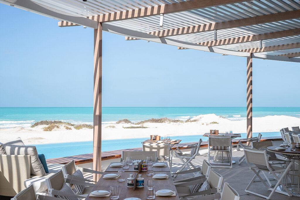 Mare Mare restaurant on the beach at Jumeirah Saadiyat Island resort in Abu Dhabi