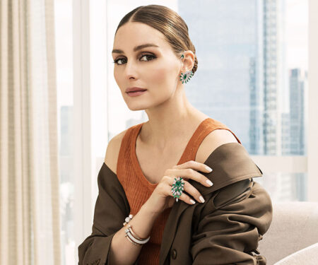 Olivia Palermo wears the Golden Oasis high jewellery collection from Piaget