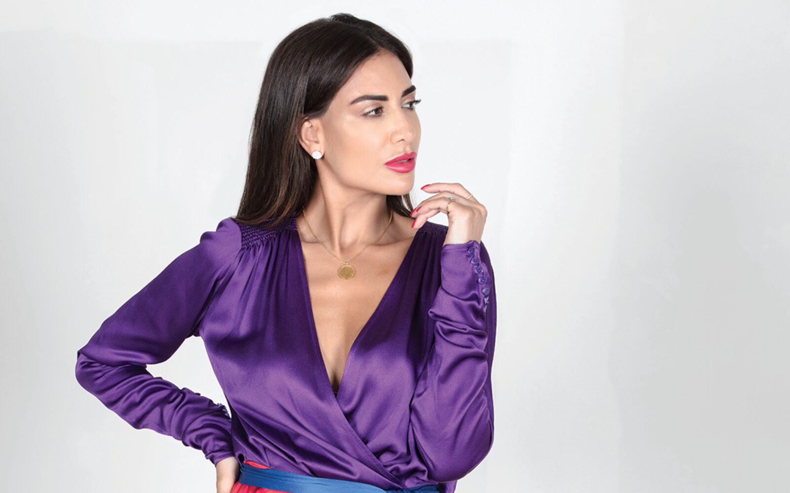 Soraya Shawky wears dress by Attico at Ounass