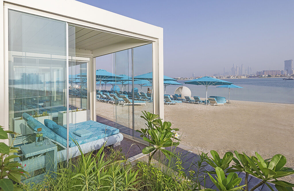A private beach cabana is where it's at at The Retreat Palm Dubai