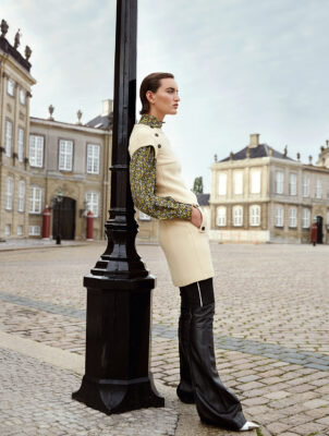 Dress, blouse, trousers and shoes, LOUIS VUITTON