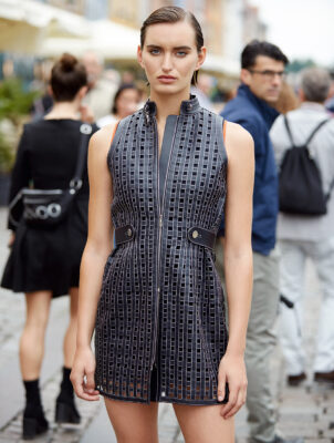 Dress and bodysuit, HERMÈS
