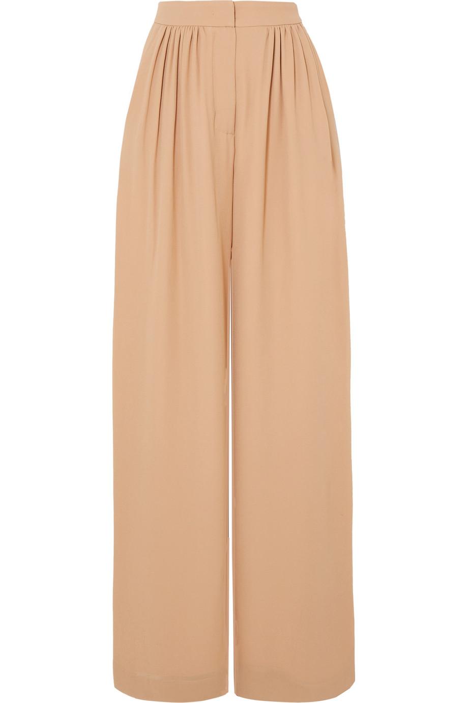 Max Mara Silk crepe de chine wide-leg pants, Net-A-Porter.com