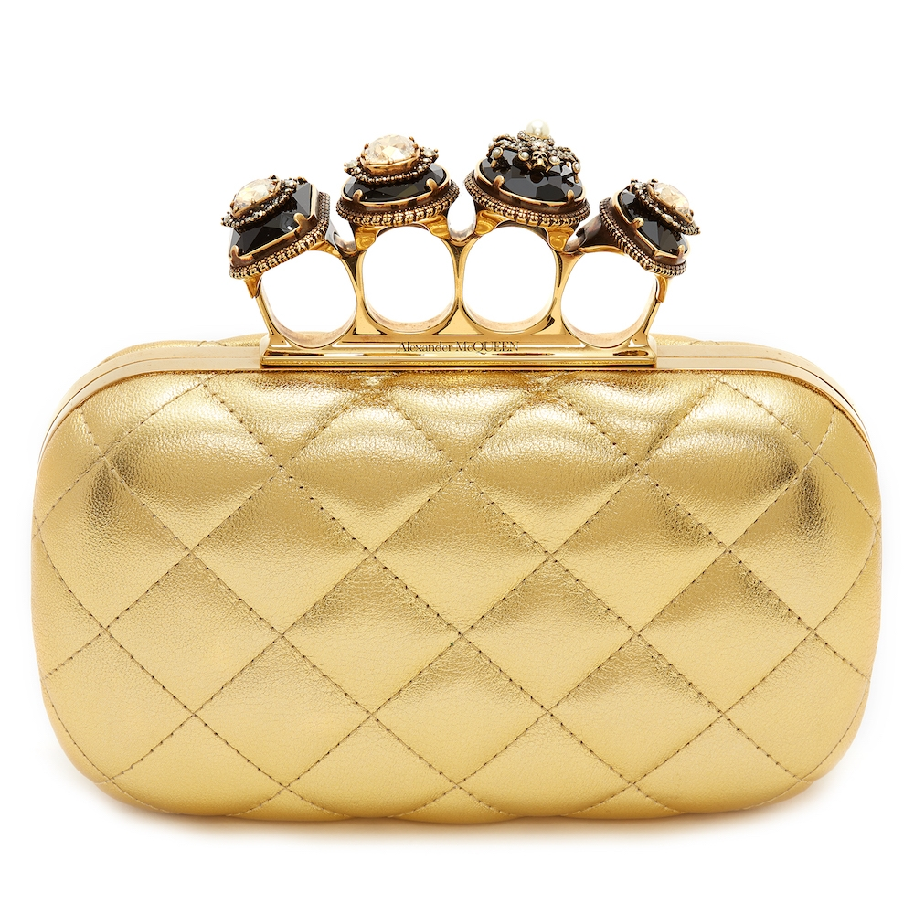 Alexander McQueen Gold Box Clutch