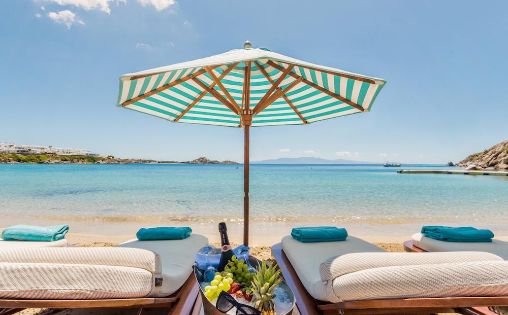 Nammos beach club in Greece