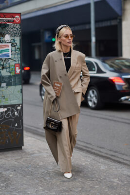 Street style power suit