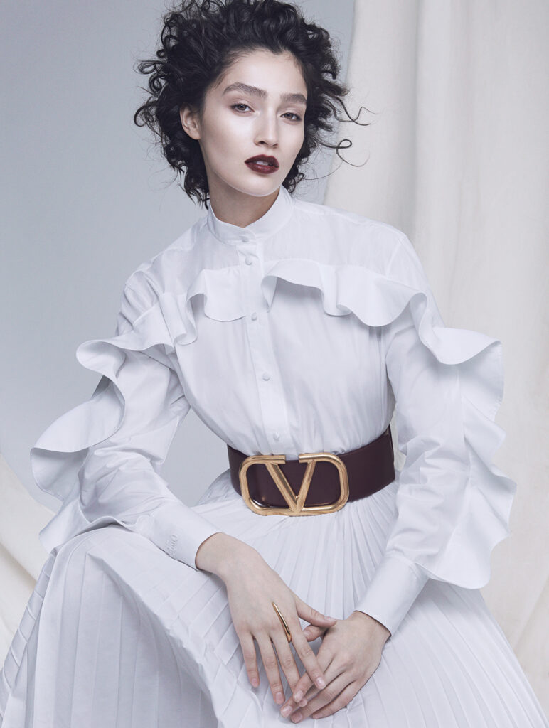 all white photoshoot