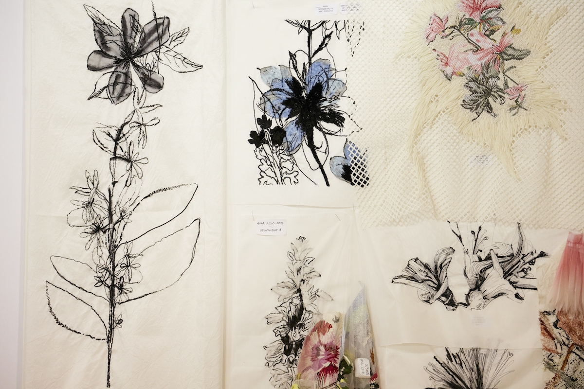 endangered flower embroidery