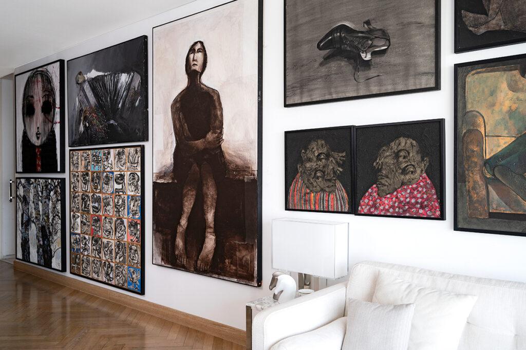 Zina Khair art collector