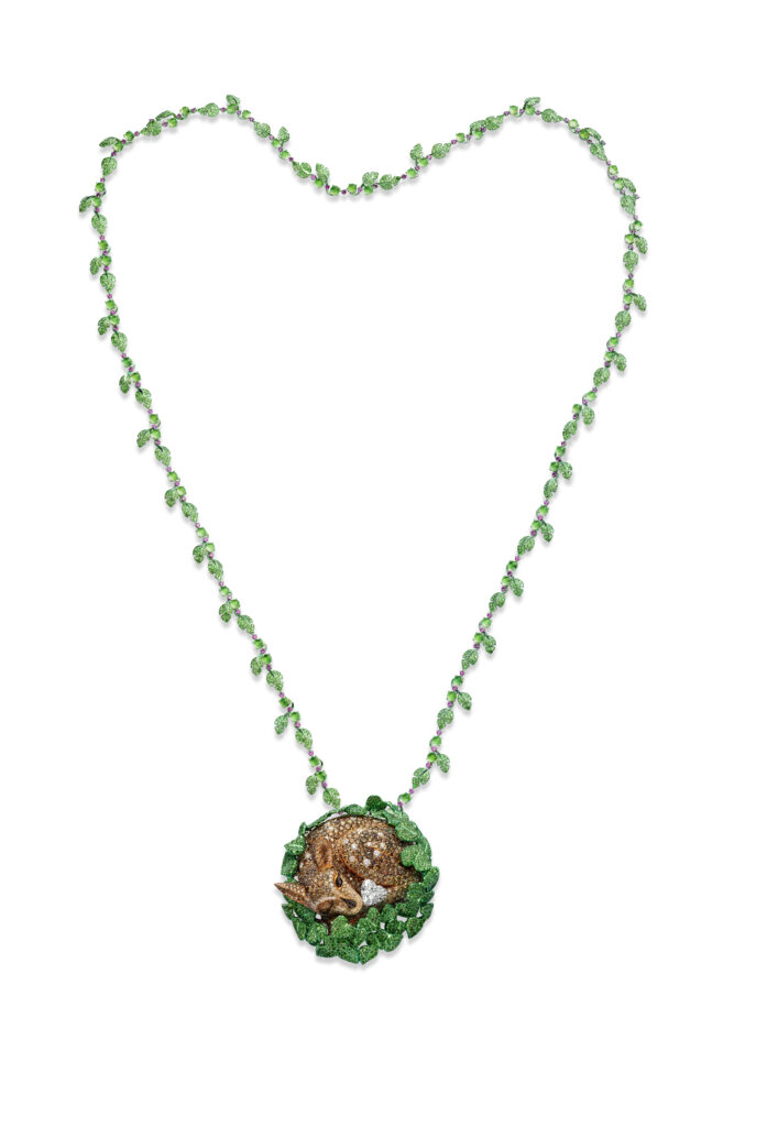 The Doe Necklace, Chopard Red Carpet 2021 Paradise high jewellery collection