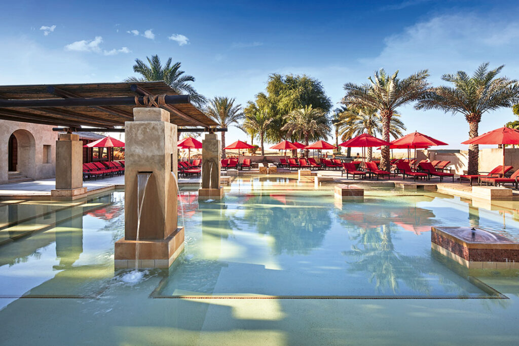The family pool at Bab Al Shams resort is the perfect place to spend your summer holiday