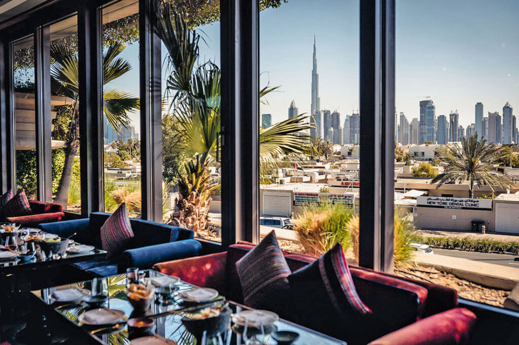 The patio at Coya, Dubai