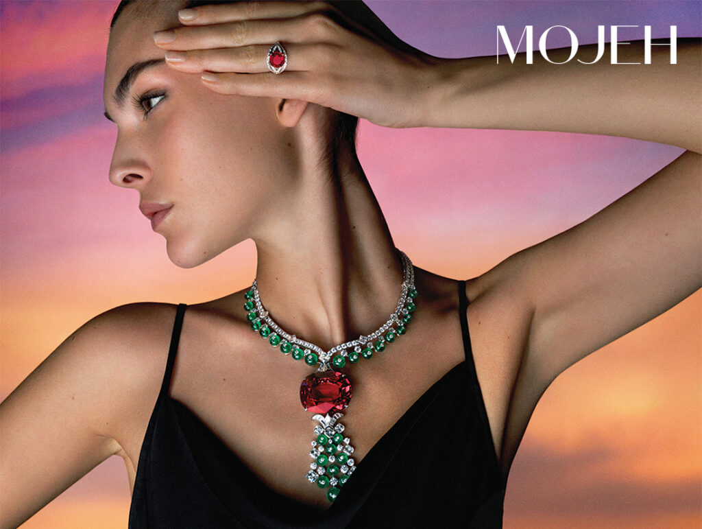 Bvlgari Magnifica Collection Imperial Spinel High Jewellery necklace and ring