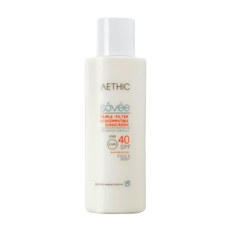 Aethic Sôvée Triple Filter Ecocompatible Sunscreen SPF40