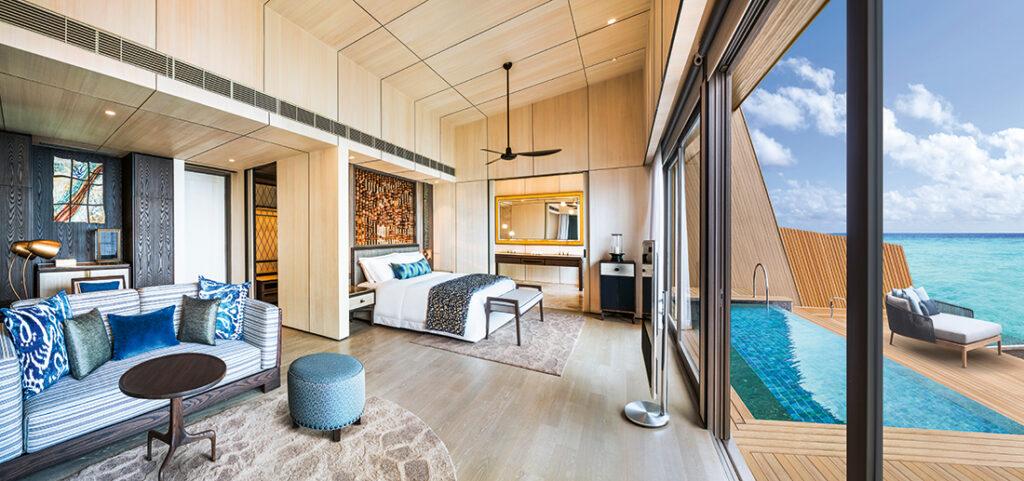 St. Regis Maldives Vommuli Resort is nestled on the Dhaalu Atoll