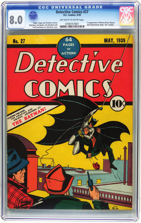 Comic books are a worthwhile investment; Batman's first appearance in Detective Comics