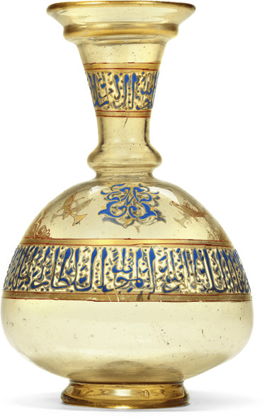 Art is a desired collectible; Mamluk glass flask