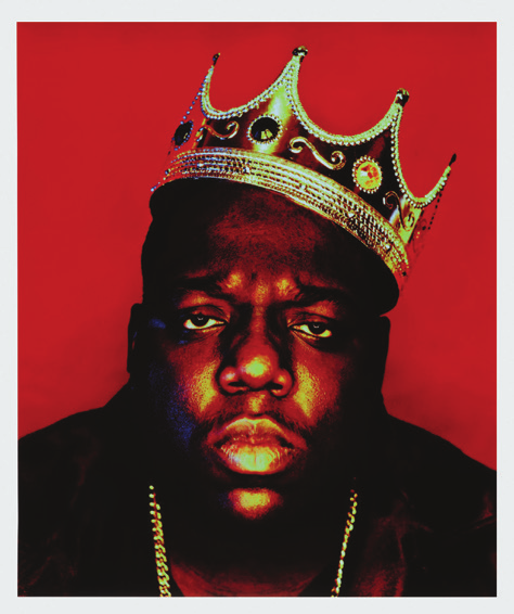 A signed collectible of the famous Notorious BIG portrait