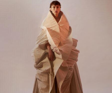 Saudi National Day; Model wears Ashi Studio