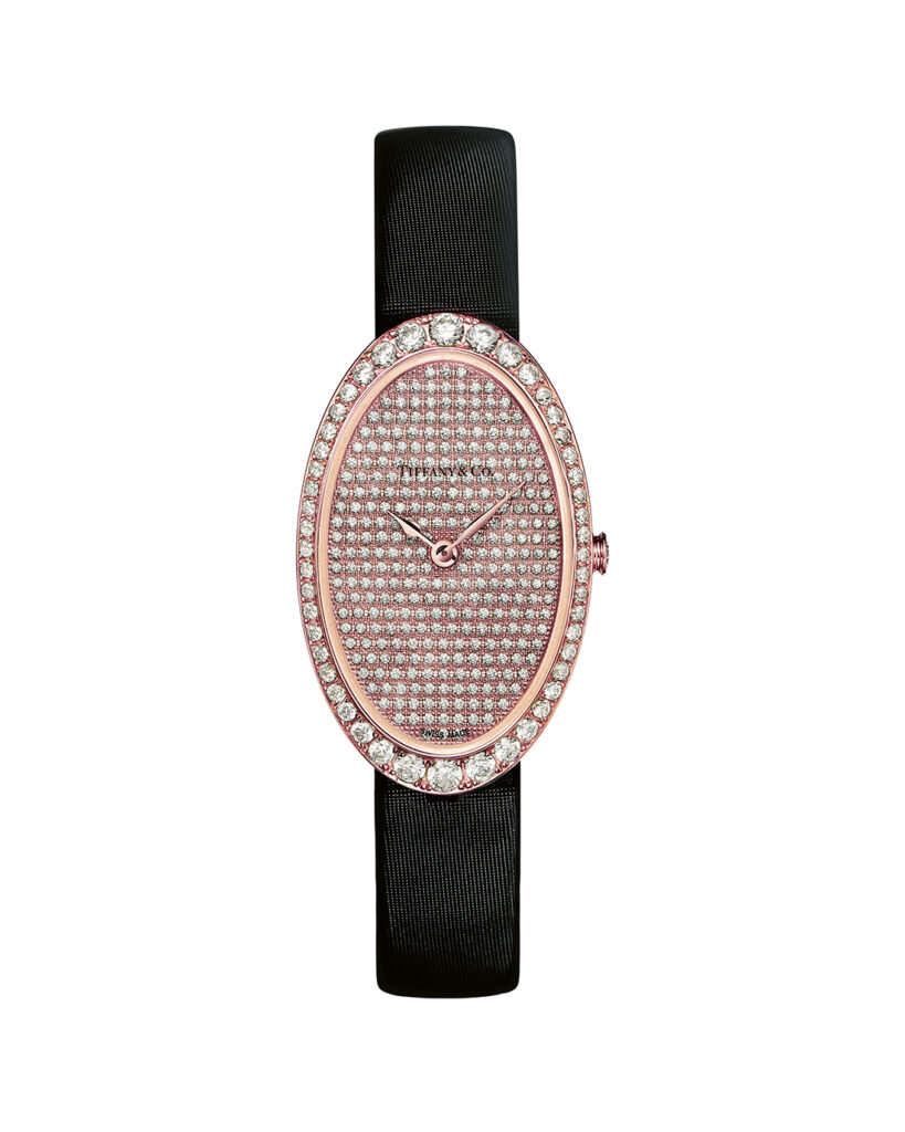 Tiffany 2-Hand Pavé Cocktail Watch